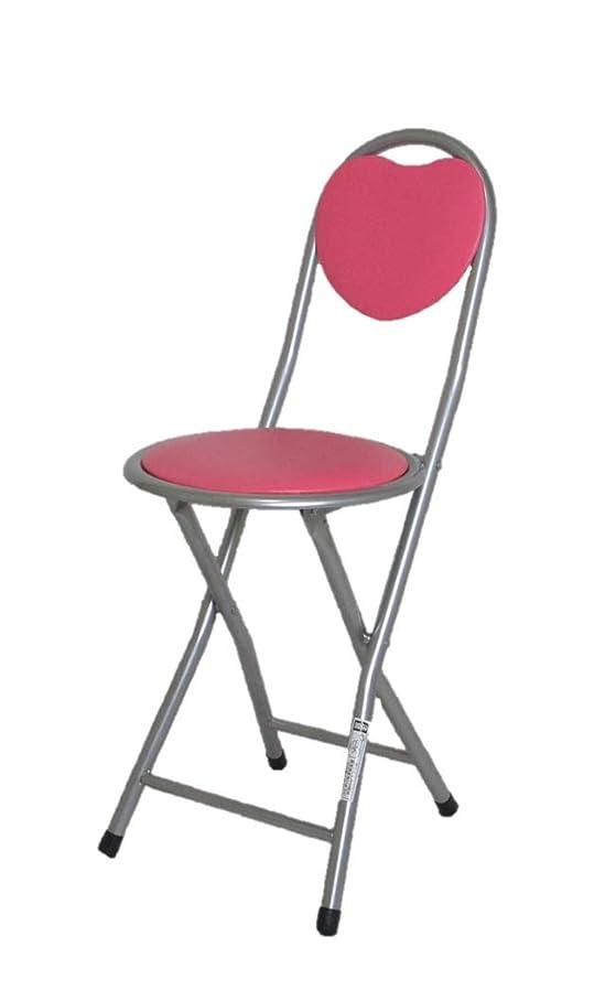 好戦的なキリスト着る折りたたみ パイプ椅子 ハート型背付 チェア ピンク lh-2200 p