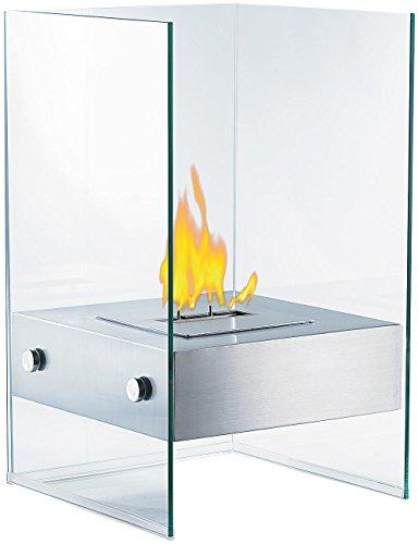Carlo Milano Ethanol Dekofeuer: Bio-Ethanol Deko-Feuer im Glaswürfel-Look (Ethanol Kamine)