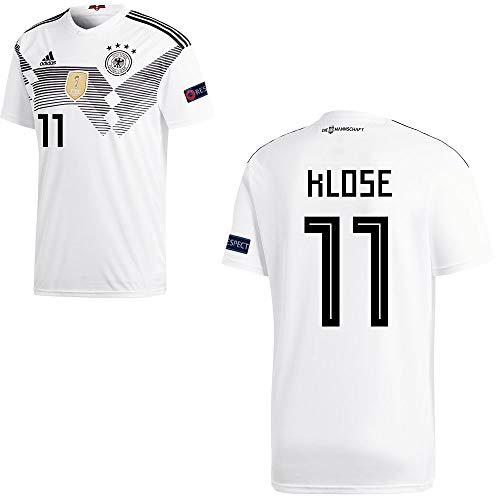 adidas Fußball DFB Deutschland Home Trikot WM 2018 Herren Klose 11 mit Respekt Logo Gr XL