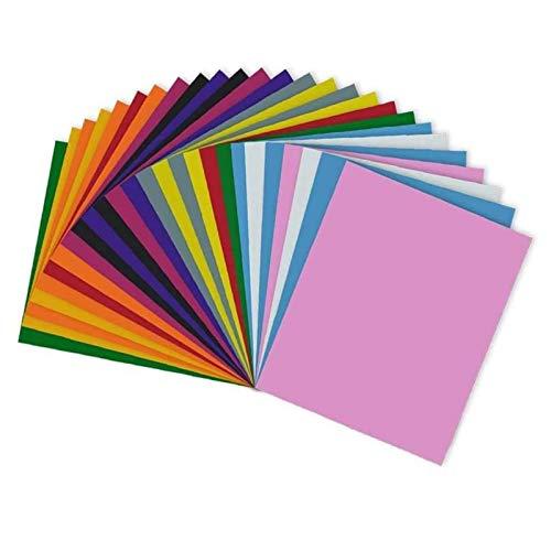 RCruning-EU Hojas de vinilo autoadhesivo Heat Transfer Vinyl- 26 Pack of 12 x 10' Sheets Adhesive Vinyl Iron-On Transfer