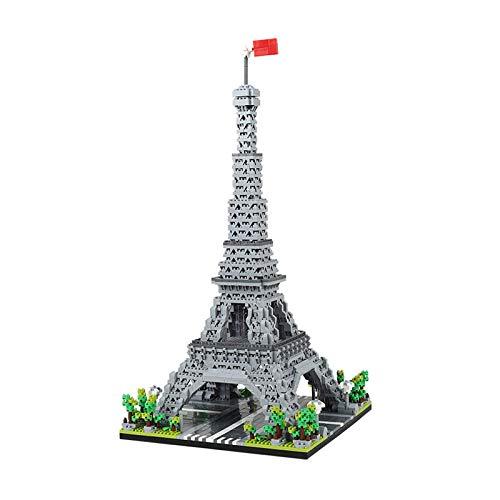 1yess Architektur Micro Bausteine, weltberühmte Wahrzeichen 3D Modell Puzzle DIY Spielzeug, Geschenke für Kind und Erwachsene 8bayfa (Color : Eiffel Tower)