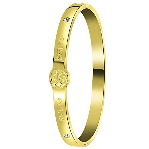 Guess - Edelstahl, vergoldet, 4G-Logo - für Damen - Gold