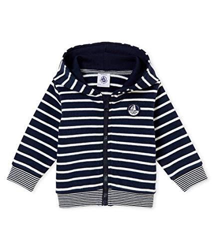 Petit Bateau SWEAT SHIRTS Sweat-shirt Bébé garçon Noir (Smoking/Marshmallow 01) 3 ans (Taille fabricant: 36M 36MOIS)