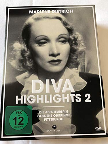 Marlene Dietrich - Diva Highlights 2 (Die Abenteurerin / Goldene Ohrringe / Pittsburgh) [3 DVDs]