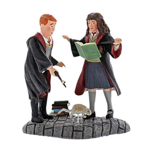 Wingardium Leviosa Ron and Hermione 3 inch Resin Stone Collectible Figurine