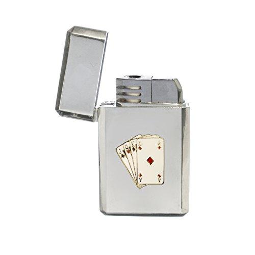 Poker speelkaarten stormproof gas aansteker