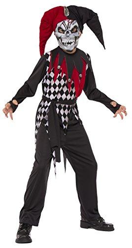 Halloween - Disfraz de Arlequín Malvado para niños, infantil 8-10 años (Rubie