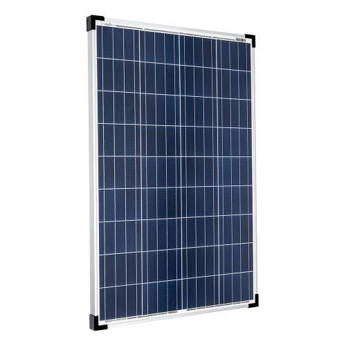 Offgridtec 100W Poly Solarpanel 12V Solarmodul Solarzelle 100 Watt Camping Caravan Garten, 1 Stück, 001570