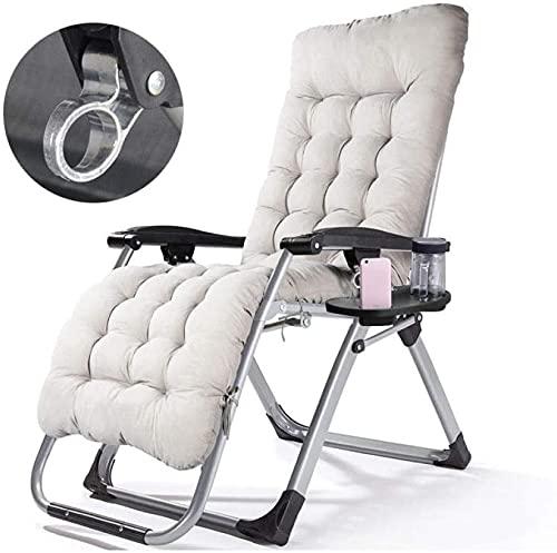 Silla plegable al aire libre reclinable Silla de relajación de silla, reclinable de jardín de color puro, reclinable portátil al aire libre de gravedad cero, tumbona plegable y silla de camping