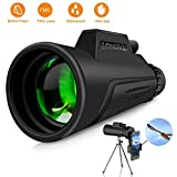 Monocular Telescope Compact Monocular - 12x50 HD High Power Monocular with Smartphone Holder and Tripod, FMC BAK4 Prism Waterproof Monocular Scope for Adults Bird Watching Hunting Hiking Camping