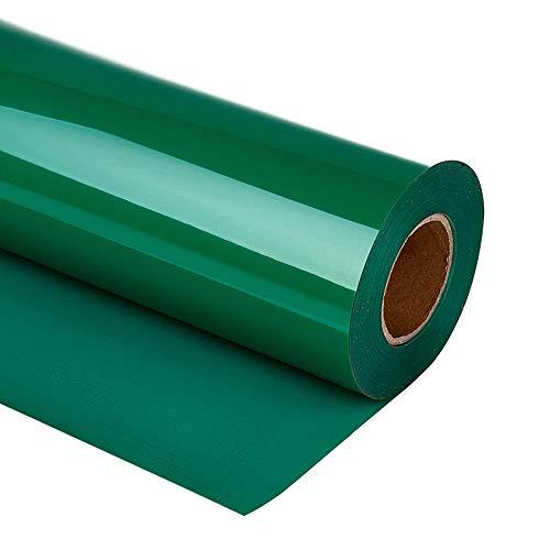 guangyintong HTV 12 x 10ft Roll - Iron On Heat Transfer Vinyl for T-Shirt Matte (Green A6)