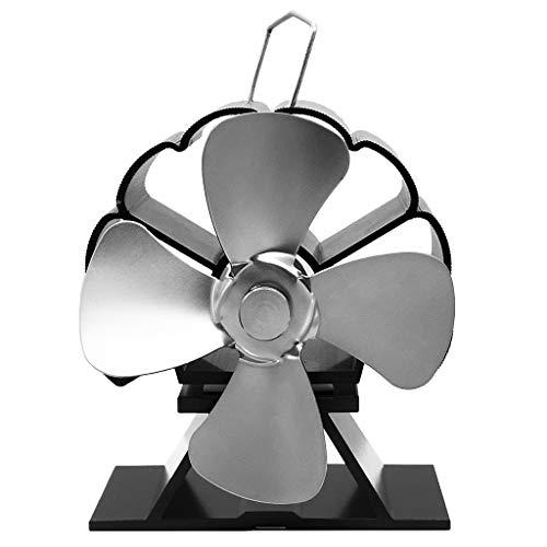 JOYKK Mini-kachel met warmteaangedreven aluminium, milieuvriendelijke ventilator