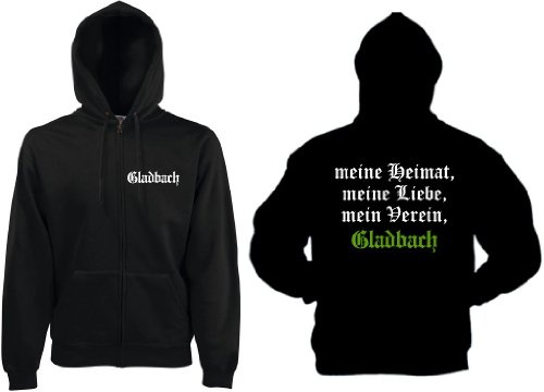 world-of-shirt Herren Kapuzenjacke Gladbach Ultras Meine Heimat