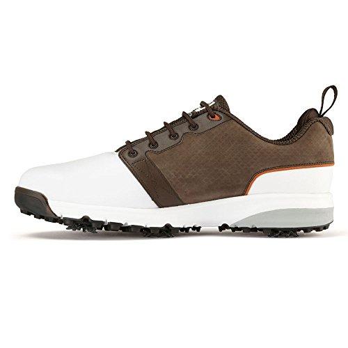 Footjoy Footjoy Herren Contour Fit Golfschuhe, (weiß/braun), 44.5 EU