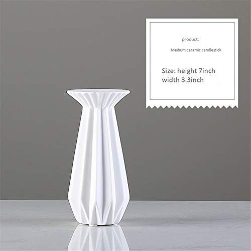 DevilLover Origami Keramik KerzenstäNder Romantisches Abendessen Requisiten Kerzenhalter Ornament Startseite Wohnzimmer Hochzeitstag Dekoration,Medium