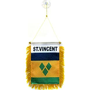 1000 Flags St Vincent and The Grenadines Flag - Car Flag Hanging Window Pennant