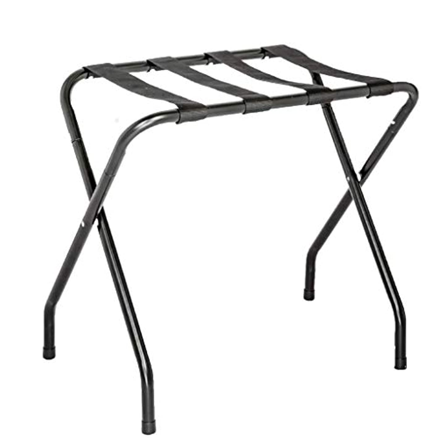 US Office Elements Folding Collapsible Travel Luggage Rack with Black Nylon Straps (Single-1, Black) zxymmr2613789