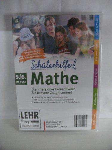 Schülerhilfe! ~ Mathe ~ Klasse 5.- 6. ~ Die interaktive Lernsoftware für bessere Zeugnisnoten! ~ Abgestimmt auf die Lehrpläne aller Bundesländer