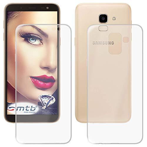 mtb more energy® Custodia Doppio (Fronte e Retro) per Samsung Galaxy J6 2018 (SM-J600, 5.6'') - Protezione 360 Gradi - TPU Silicone Case Cover