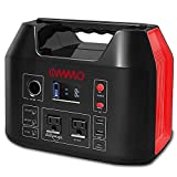 OMMO Portable Power Station, 555Wh Outdoor Solar Generator, 150000mAh Lithium Battery Pack with Pure Sine Wave 110V/500W AC Outlet, PD 60W for Camping, Power Cut, CPAP, Emergency