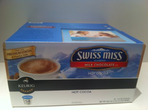Swiss Miss Milk Chocolate K-Cups for Keurig Brewers (54 Count)