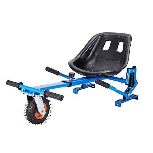 Upgrade Hoverboard Seat Attachment, Go Cart, Go Kart, Hoverboard Accessories, Hoverboard Conversion Kit, with Heavy Duty Frame, Available to Fit All Ages, Fits 6.5'/8'/10' (Blue)