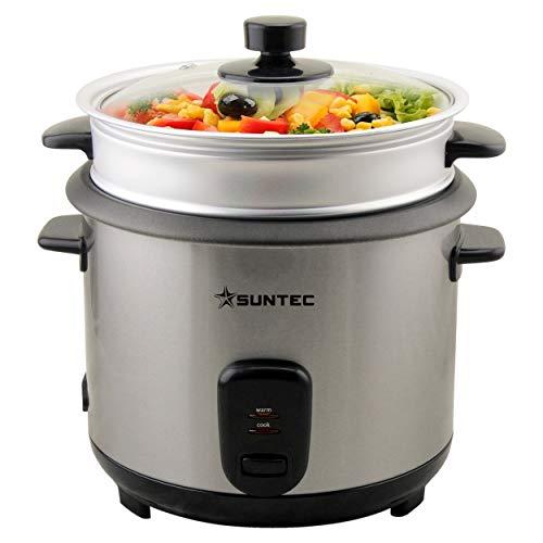 SUNTEC Cuiseur de riz RKO-9974 Thuy-Denise [capacité de 1 l, utilisable comme cuiseur vapeur, avec gobelet de mesure + pelle à riz, max. 400 watt]