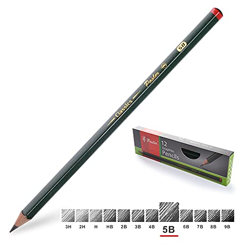Pasler Professional Graphic Sketching Drawing Pencils 12 Count (5B)