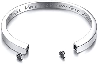 Personalized Customized Memorial Ash Keepsake Urn Bracelet for Ashes Holder,Cremation Jewelry
