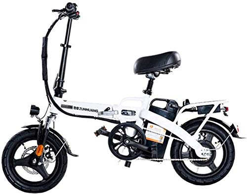 Bici electrica, Plegable bicicleta eléctrica for los adultos, 14' bicicleta eléctrica / conmuta E-bici Con Motor 350W, extraíble 36VThe más alto 28 Ah impermeable a prueba de polvo y una batería de li