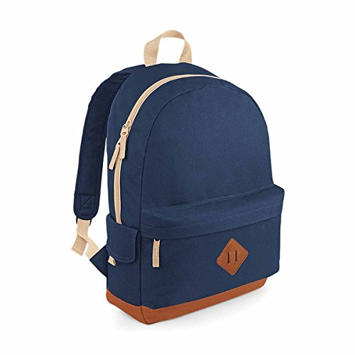 BagBase Heritage Backpack, French Navy, 45 x 31 x 19 cm