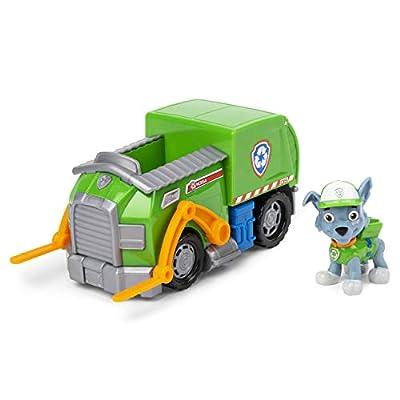 PAW PATROL 6054969 Rocky's - Vehículo de Reciclaje con Figura Coleccionable, para niños a Partir de 3 años, Multicolor de Spin Master