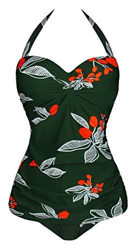 Angerella Green Tummy Control Swimwear Underwire Swimsuit Junior One Piece Swimsuits,2XL