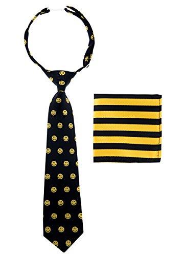 Canacana Jungen Krawatte, gemustert Gr. 100 cm, Schwarz - Schwarz und Gelb