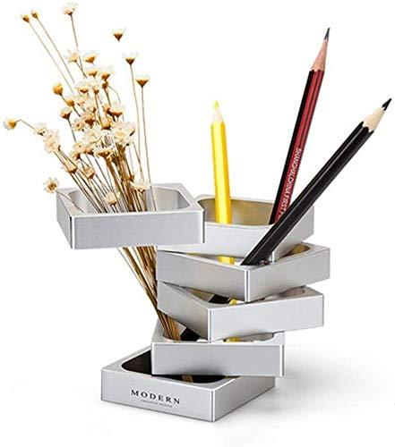 Titular de la pluma Titular de escritorio de almacenamiento de aluminio de alta capacidad de la pluma, creativa Alto grado de cambio de forma, la pluma de metal, material de oficina Moda Estuche