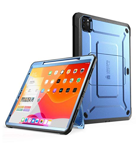 SUPCASE UB Pro Series Case for iPad Pro 12.9 2020, Support Apple Pencil Charging with Built-in Screen Protector Full-Body Rugged Kickstand Protective Case for iPad Pro 12.9 inch 2020 Release (Tilt)