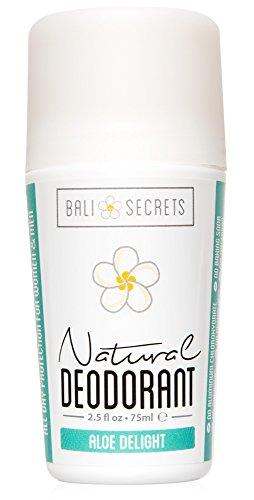 BALI SECRETS All Natural Deodorant for Women & Men. Organic & Vegan. Pure Ingredients. All Day Protection. 2.5 fl oz [Scent: Aloe Delight]