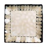 LYJ Plato de postre Platos de cena cuadrados multiusos estilo retro vajilla de cerámica platos occidentales, aptos para lavavajillas y microondas