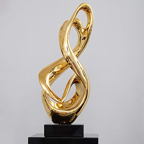 JLXQL Dekoartikel Tierstatuen Gartenfiguren Statuen Dekoartikel & Figur Skulpturen Figuren Modern Creative Plating Gold Silver Musical Note Resin Statue Home Crafts Room Decoration Objects Office