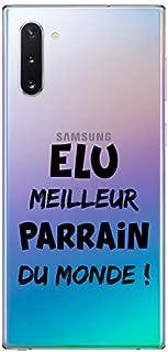 ZOKKO Case for Samsung Note 10 - Best Godfather of the World - Transparent - Black Ink