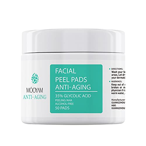 Glycolic Acid Pads 35% for Face Body Glycolic Acid Peel Exfoliating...