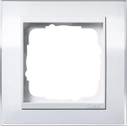 Gira Rahmen 1-Fach Event klar weiß mit reinweißem Zwischenrahmen, 0211723