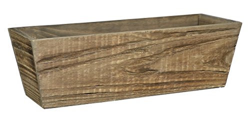 Wood  Window Box Planter - Buffalo Brown