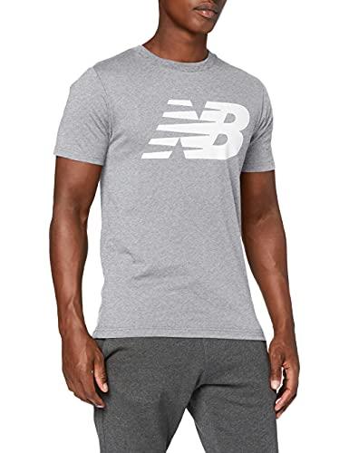 New Balance Camiseta clásica hombre, Hombre, Camiseta, MT03919, Gris atlético, S
