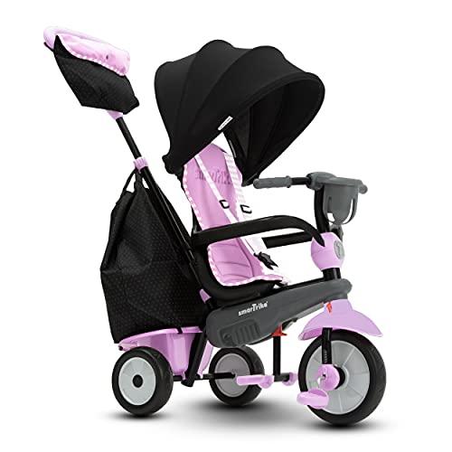 smarTrike Swirl Tricycle 4 en 1 pour Bébé, Rose/Gris