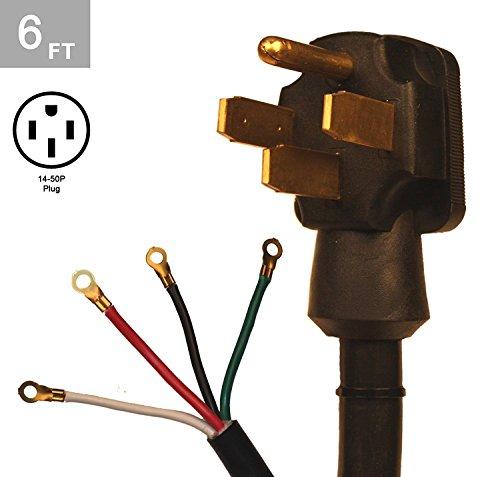 TES 6 Ft. 6/2-8/2 50 Amp 4 Wire Range Cord Kit
