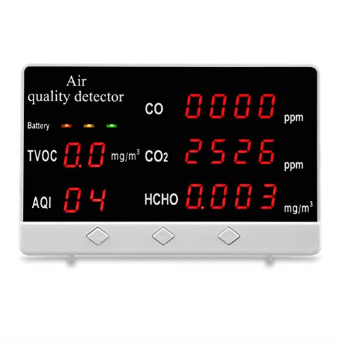 Gro?Bild-Luftqualit?tsdetektor 131CO Formaldehyddetektor Kohlendioxid-Tester 360 Minuten Lange Standby