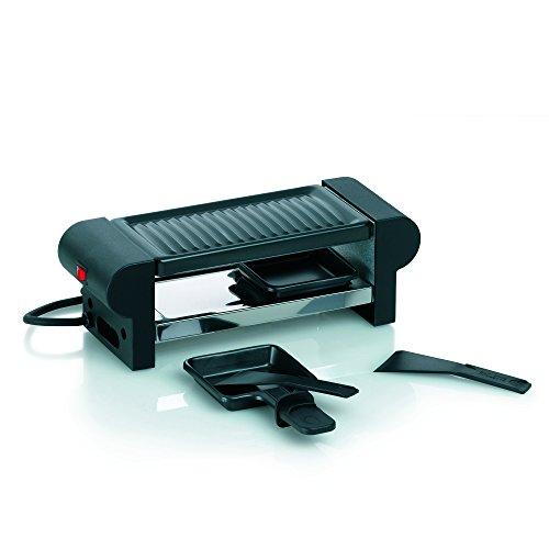 Kela 66490 Raclette mit Grillplatte, Stahl antihaftbeschichtet, Für 2 Personen, 350 W, 230 V, Bernina