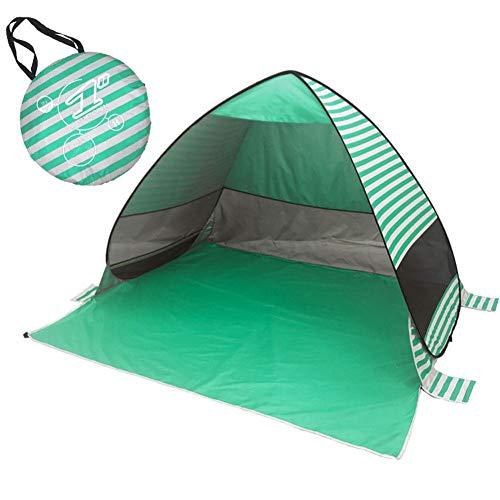 Mississ UPF 50 Pop Up Beach Carpa Sun Shelter Beach Shade con Bolsa De Transporte, Cabaña Automática Instantánea Al Aire Libre Sun Shelter, Fácil Instalación, Peso Ligero A Prueba De Viento Right