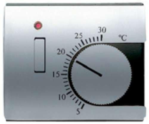 Niessen olas - Tapa termostato calefacción con interruptor olas arena